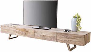 DELIFE Designer-Lowboard Wyatt 220 cm Sheesham Natur 4 Schübe  ♥  ♥ Lowboard Holz ♥ Designer Lowboard