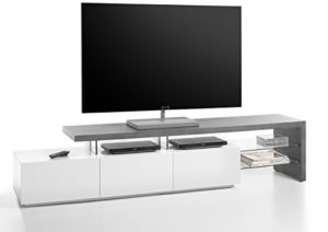 TV Lowboard | Beton Optik, Grau