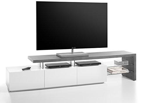 TV Lowboard | Beton Optik, Grau