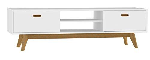 TV LOWBOARDS | TV SIDEBOARD - Tenzo 2162-001 Bess Designer TV-Bank | Matt | weiß / eiche