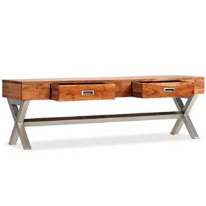 Festnight TV-Schrank mit Schubladen Fernsehschrank TV-Board aus Massiv Akazie Sheesham-Finish ♥  ♥ Lowboard Holz ♥ Designer Lowboard