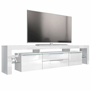 Vladon TV Board Lowboard Lima Nova V2, Korpus in Weiß matt/Front in Weiß Hochglanz  ♥  ♥ Lowboard Weiss