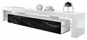 Vladon TV Schrank Lowboard Fernsehschrank Fernsehtisch Wohnzimmer Lima V2 in Weiß/Schwarz Hochglanz  ♥  ♥ Lowboard Weiss