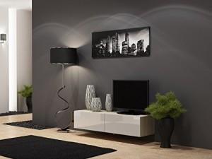 LOWBOARD WANDHÄNGEND - TV Board ♥ Lowboard Migo ♥ Sonoma Eiche Matt / Weiß Hochglanz