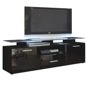 Vladon TV Board Lowboard Almada ♥ TV Board ♥ 2 Türen ♥ 1 Schubkasten ♥ Lowboard Schwarz
