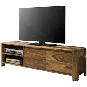 FineBuy Lowboard Massivholz Sheesham Kommode  ♥  ♥ Lowboard Holz ♥ Designer Lowboard