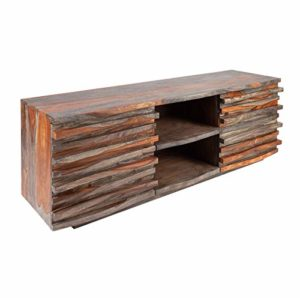 Invicta Interior Massives TV-Lowboard Relief ♥  ♥ Lowboard Holz ♥ Designer Lowboard