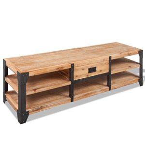 Festnight TV-Lowboard TV-Schrank aus Massives Akazienholz ♥  ♥ Lowboard Holz ♥ Designer Lowboard