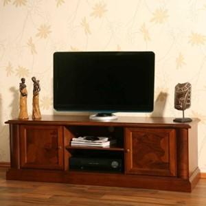 TV LOWBOARDS ♥ TV SIDEBOARD - TV-Lowboard Alberto aus Nussbaum Antik Teilmassiv Pharao24