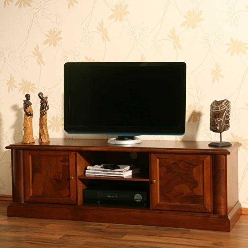 TV LOWBOARDS | TV SIDEBOARD - TV-Lowboard Alberto aus Nussbaum Antik Teilmassiv Pharao24