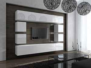 Wohnwand hängend modern - FUTURE 17 Moderne Wohnwand,